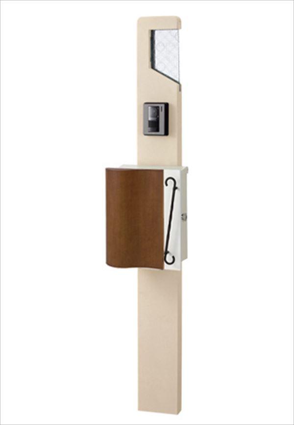 トーシン 機能門柱 ネオスティック170 LED・ガラス表札付門柱 組合せ例 P64-2 EP-ST170NEO 『機能門柱 機能ポール』