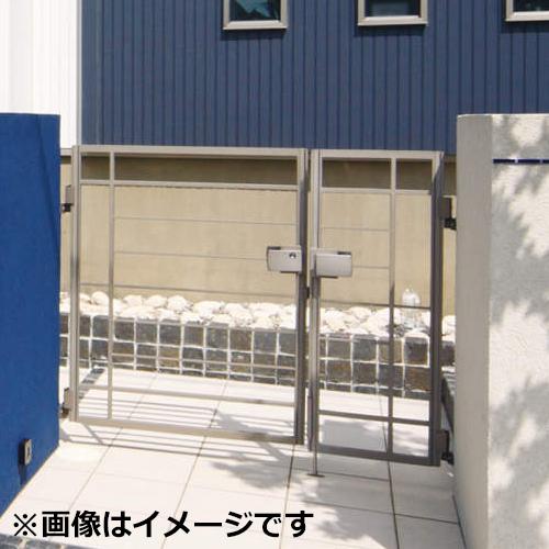 三協アルミ 門扉 マイリッシュ S2型 親子開きセット 門柱タイプ 04・0810
