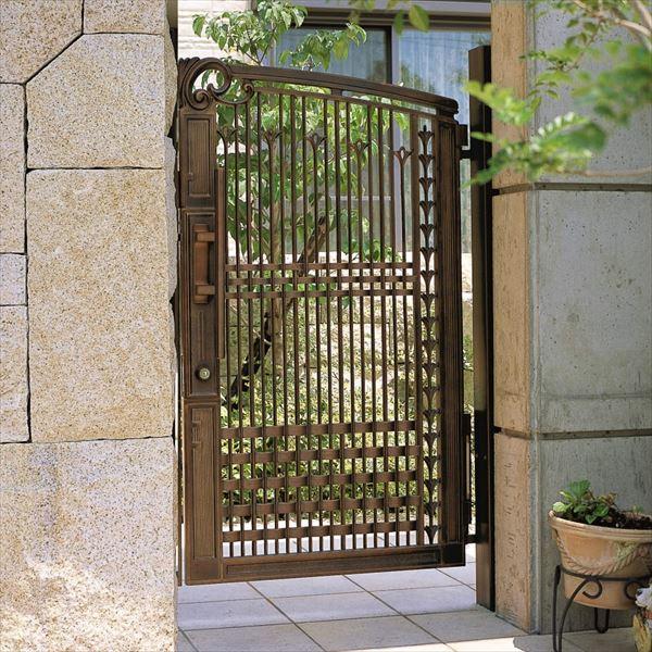 三協アルミ 門扉 グレースライン 1型 片開きセット 門柱タイプ(クローザ仕様) 0814 いぶし銅(BI) いぶし銅(BI)