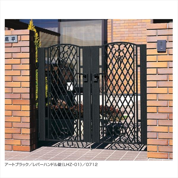 三協アルミ 門扉 ジョイラルA型  両開きセット 門柱タイプ 0712 『LHF-01錠仕様』