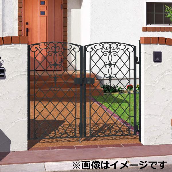 三協アルミ 門扉 キャスリート 1型 両開きセット 門柱タイプ 0710