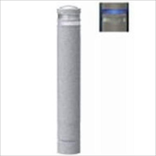 サンポール リサイクルボラード 石目風塗装 自発光LED付(点滅式) 固定式 ライト:ブルー(ST1B) RB-134U-SOL ライト:ブルー(ST1B)