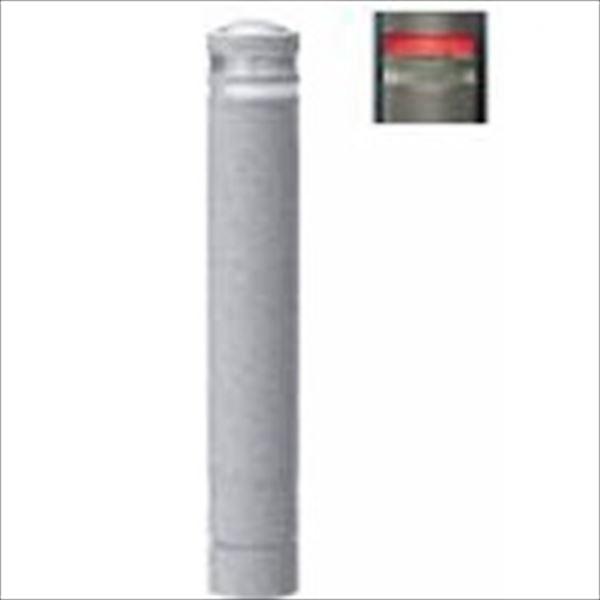 サンポール リサイクルボラード 石目風塗装 自発光LED付(点滅式) 固定式 ライト:レッド(ST1R) RB-134U-SOL ライト:レッド(ST1R)