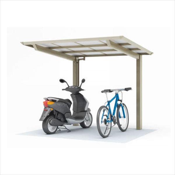 サイクルポート 四国化成 スマートポートミニ 基本セット ロング(延高) SMPE-B2125 『サビに強いアルミ製 家庭用 自転車置場 屋根』 木調タイプ