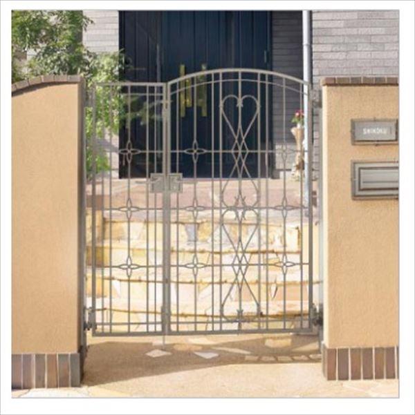 四国化成 ブルーム門扉 M8型 柱仕様 親子開きセット 0414+0814 ステンカラー