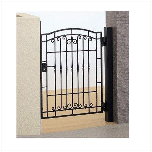 四国化成 ブルーム門扉 3型 柱仕様 片開き 0610 ブラックつや消し