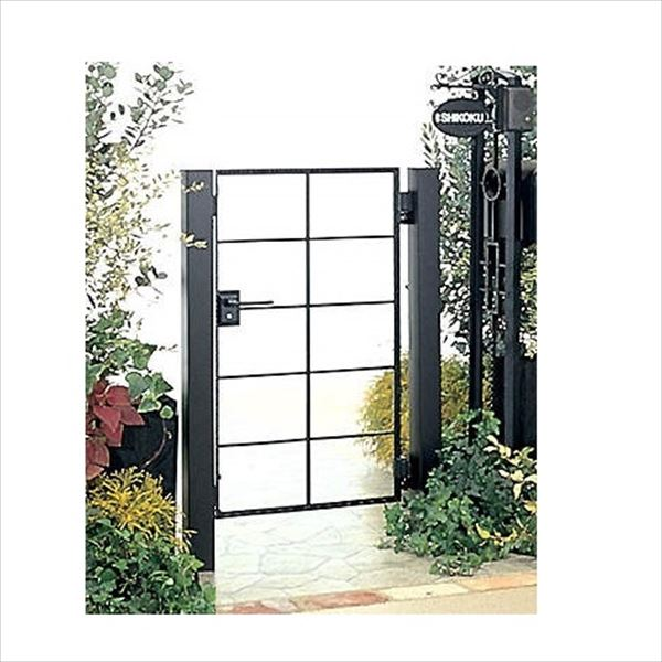 四国化成 ブルーム門扉 15型 柱仕様 片開き 0610 ブラックつや消し