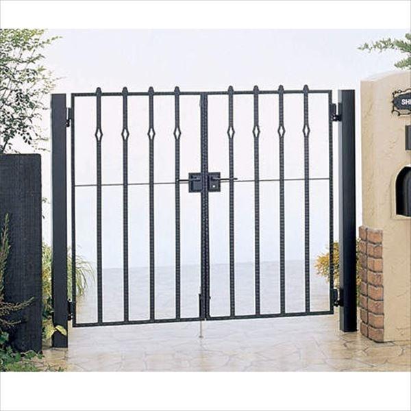 四国化成 ブルーム門扉 18型 柱仕様 両開き 0712 ブラックつや消し