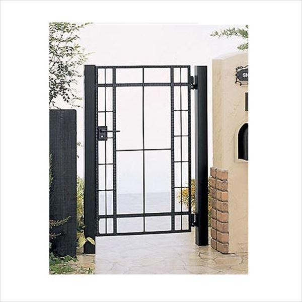 四国化成 ブルーム門扉 20型 柱仕様 片開き 0712 ブラックつや消し