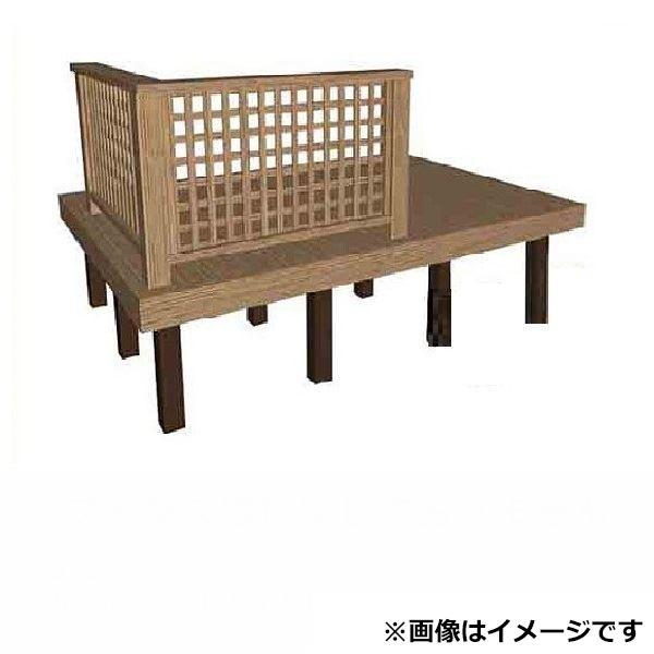 タカショー タンモクアッシュ デッキセット(根太・束柱アルミ仕様) 1.5間×4尺 塗装済(アジアンブラウン)