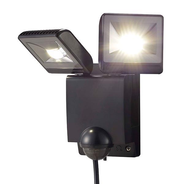 タカショー セキュリティライト(100V) LEDセンサライト 2型 #61913900 HIA-W02K ブラック