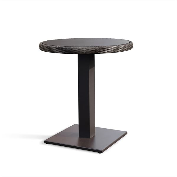 かじ新 RAUCORD OLBIA ダイニングテーブル 650φ 『ガーデンテーブル ガーデンファニチャー』  ダークブラウン