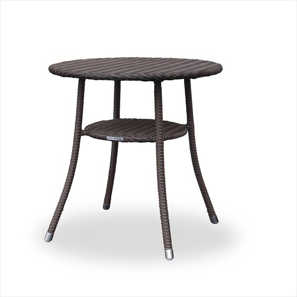 送料無料【かじ新】世界が認めたドイツ品質 かじ新 RAUCORD AMALFI ダイニングテーブル 700φ 『ガーデンテーブル ガーデンファニチャー』 ダークブラウン