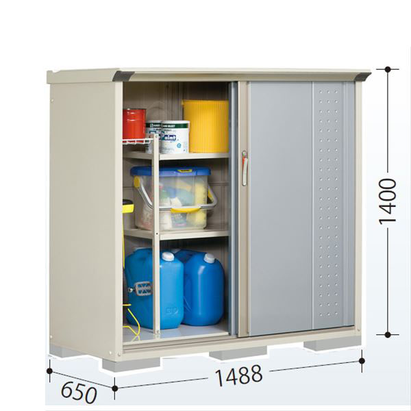 タクボ物置 GP/グランプレステージ ジャンプ GP-156CF 全面棚タイプ  『追加金額で工事も可能』 『屋外用 小型物置 DIY向け 収納庫』