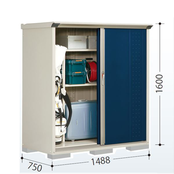タクボ物置 GP/グランプレステージ ジャンプ GP-157BF 全面棚タイプ  『追加金額で工事も可能』 『屋外用 小型物置 DIY向け 収納庫』