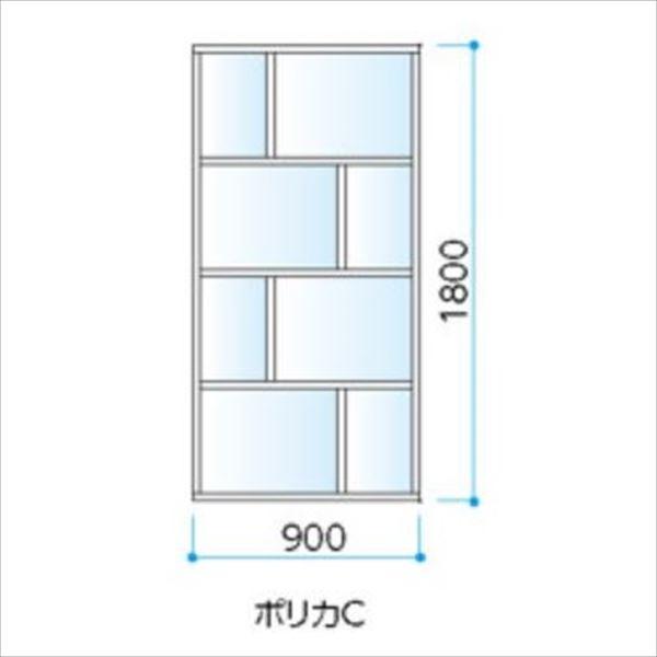 タカショー エバースクリーン ポリカCタイプ   W900×H1800 ウッドカラー ※受注生産品