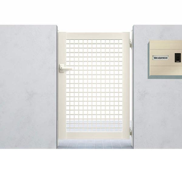 YKKAP シンプレオ門扉7型 片開き  09-12 HME-7 『井桁格子デザイン』