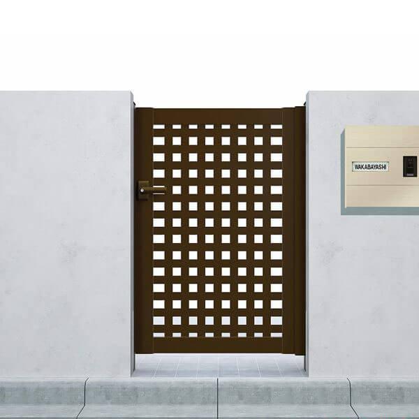 YKKAP シンプレオ門扉11型 片開き 門柱仕様 08-12 HME-1 『太井桁格子デザイン』