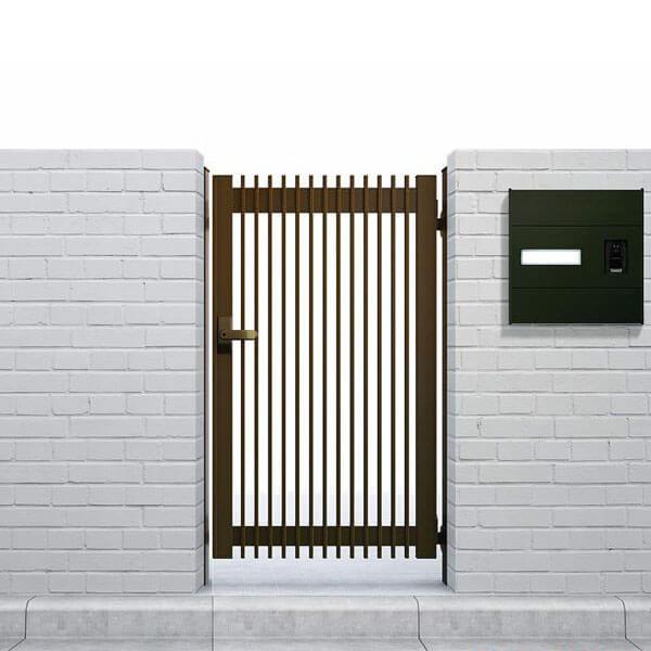 YKKAP シンプレオ門扉T1型 片開き 門柱仕様 09-12R HME-T1