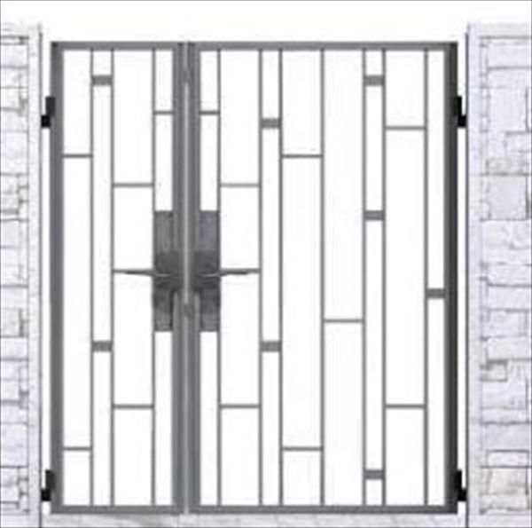 YKKAP シャローネ門扉 SB03型 親子開き 門柱仕様 04・08-16