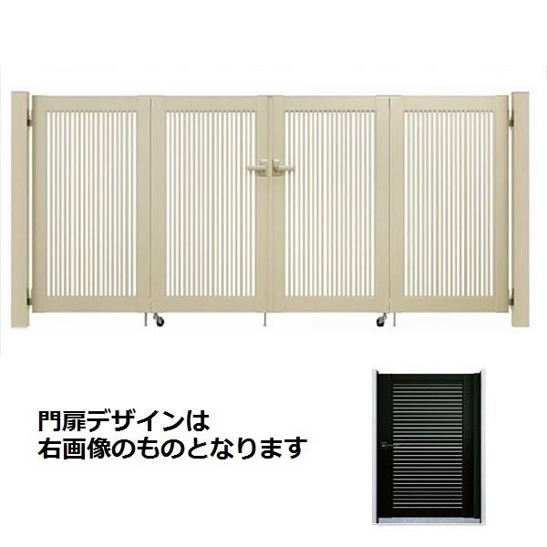 YKKAP シンプレオ門扉 3型 4枚折戸セット 門柱仕様 09-10