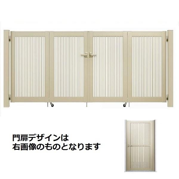 YKKAP シンプレオ門扉 4型 4枚折戸セット 門柱仕様 08-10