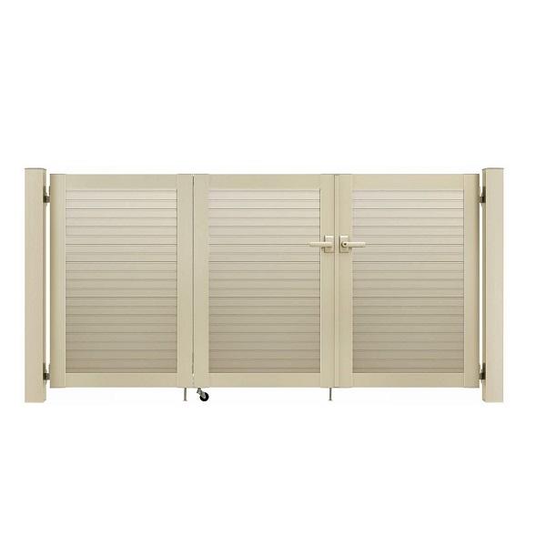 YKKAP シンプレオ門扉 5型 3枚折戸セット 門柱仕様 09-10