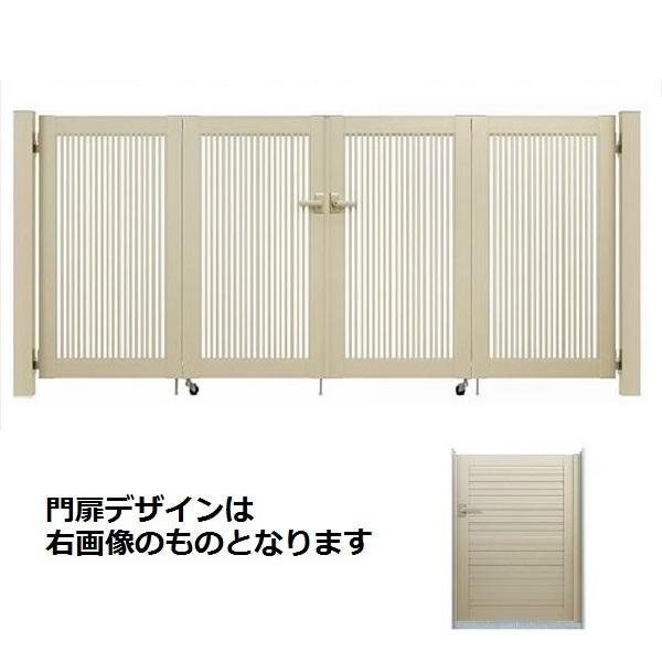 YKKAP シンプレオ門扉 5型 4枚折戸セット 門柱仕様 09-10