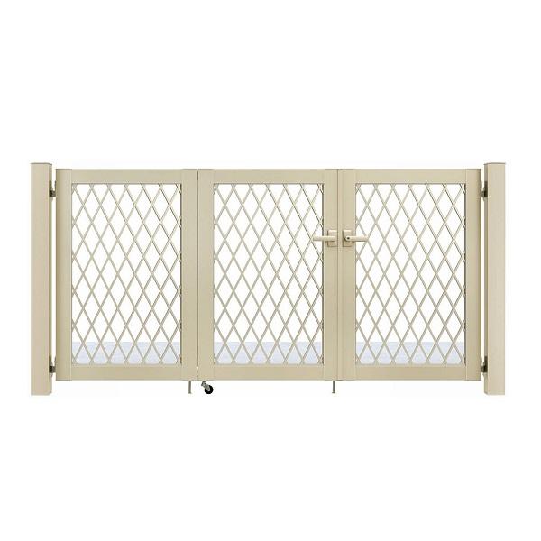 YKKAP シンプレオ門扉 8型 3枚折戸セット 門柱仕様 09-10