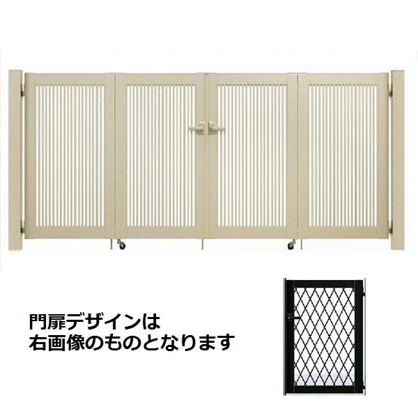 YKKAP シンプレオ門扉 8型 4枚折戸セット 門柱仕様 08-10