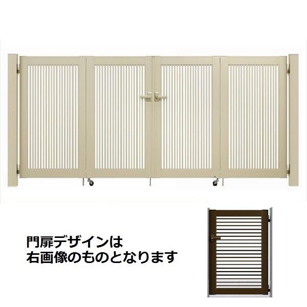 YKKAP シンプレオ門扉 9型 4枚折戸セット 門柱仕様 08-12