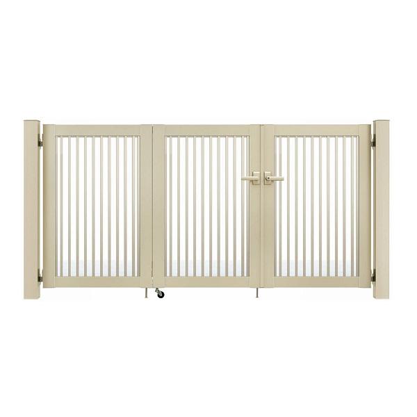 YKKAP シンプレオ門扉 10型 3枚折戸セット 門柱仕様 09-12