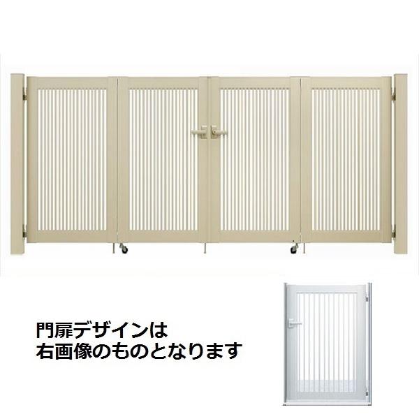 YKKAP シンプレオ門扉 10型 4枚折戸セット 門柱仕様 09-10