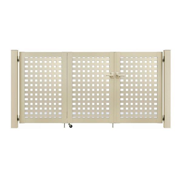 YKKAP シンプレオ門扉 11型 3枚折戸セット 門柱仕様 09-12