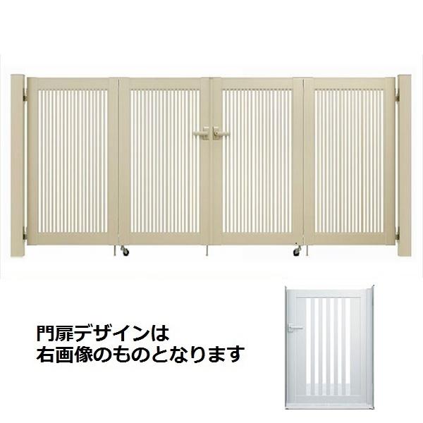 YKKAP シンプレオ門扉 S1型 4枚折戸セット 門柱仕様 09-10