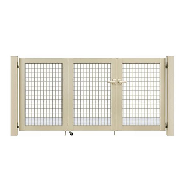YKKAP シンプレオ門扉 M1型 3枚折戸セット 門柱仕様 09-10