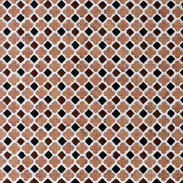 オンリーワン ミニッツモザイク フラワーミックスシリーズ(10mm角・13mm花形Mix貼り) 無釉タイプ カラー10 EZ2-FM10CA 3シート入り
