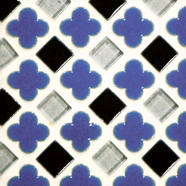 オンリーワン ミニッツモザイク フラワーミックスシリーズ(10mm角・13mm花形Mix貼り) 施釉タイプ カラー5 EZ2-FM05 3シート入り