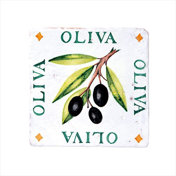 オンリーワン スペイン壁面化粧タイル ティピカルスパニッシュデザインタイル(手描き) オリーブ HJ2-ALTOL 1枚入り
