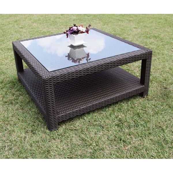 ジャービス商事 人工ラタン ガラスエンドテーブル NH-2050Z #38704