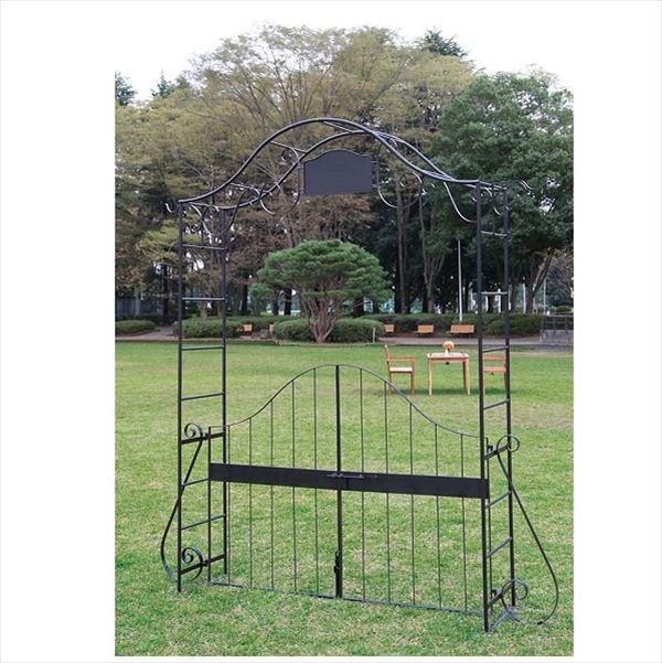 ジャービス商事 ガーデンアーチ 門扉付 アーチ2型 36430 『アーチ・パーゴラ』