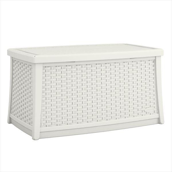 SUNCAST ラタン調テーブルボックス(L) ホワイト BMDB3000W 『ガーデンボックス』