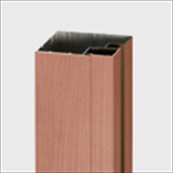 リクシル TOEX デザイナーズパーツ 柱材 75×75 間仕切り・端部用 L2350 アルミ形材色 8TYF37□□ 『外構DIY部品』