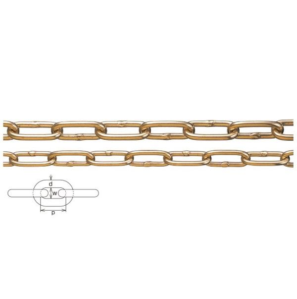水本機械製作所 黄銅チェーン 線径8mm BR-8 *価格は1m単価で商品は1本もので納品です