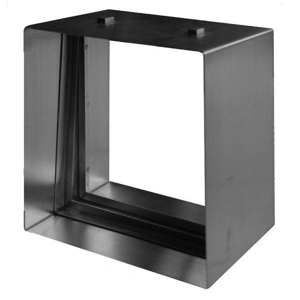 セブンホーム ステンドグラス ピュアグラス オプション Dサイズ 専用ステンレス枠 ブラック 『単品価格』