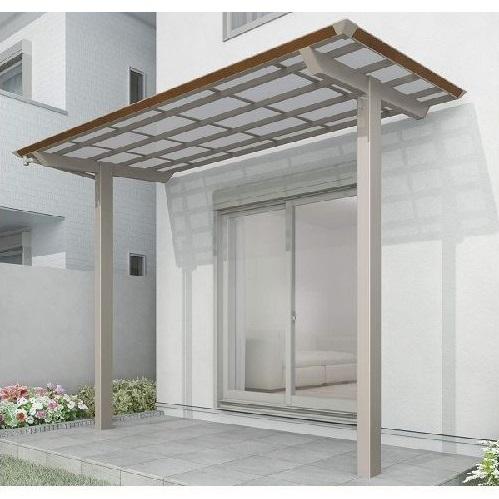 四国化成 スマート トップ 基本セット 前柱仕様 延高 間口2416×4尺(1257) LSMTFE-K2513 木調タイプ/熱線吸収ポリカ  ※単体購入不可