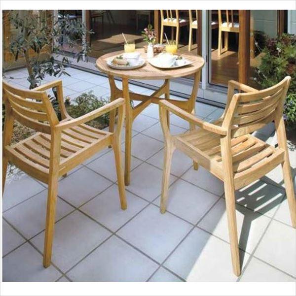 タカショー ロータス テーブルチェアー3点セット 『ガーデンチェア ガーデンテーブル セット』