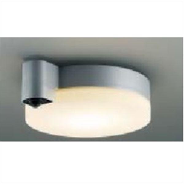 コイズミ 軒下シーリング 「防雨・防湿型」 人感センサマルチタイプ 白熱球60Wクラス 直付・壁付取付 AU38466L 電球色 『ガーデンライト エクステリア照明 ライト LED』 ブライトシルバー