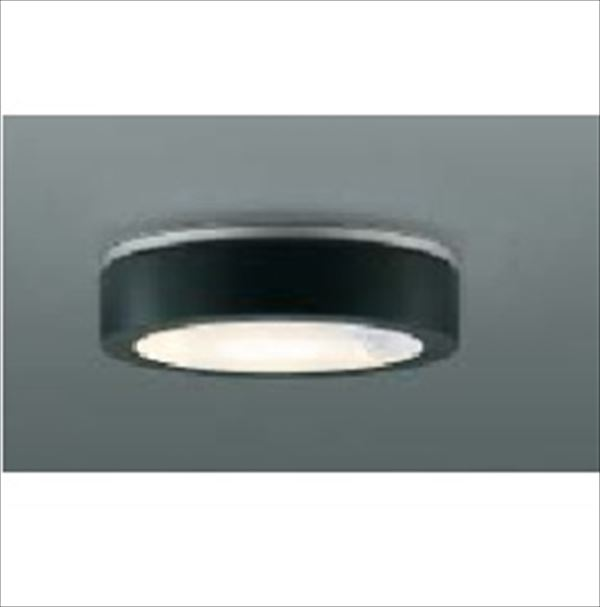 コイズミ 薄型軒下シーリング 人感センサマルチタイプ 白熱球60Wクラス AU44851L 『ガーデンライト エクステリア照明 ライト LED』 黒色