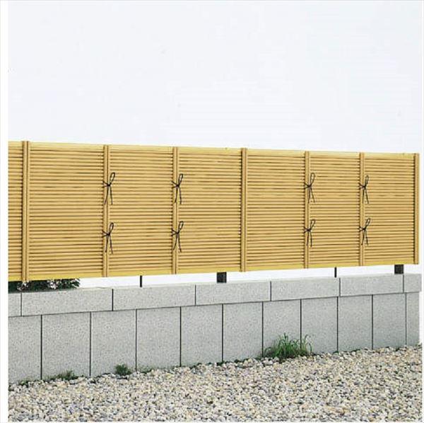 YKKAP 竹垣風フェンス 御簾垣 本体(補助柱付) T100 両面タイプ 真竹調